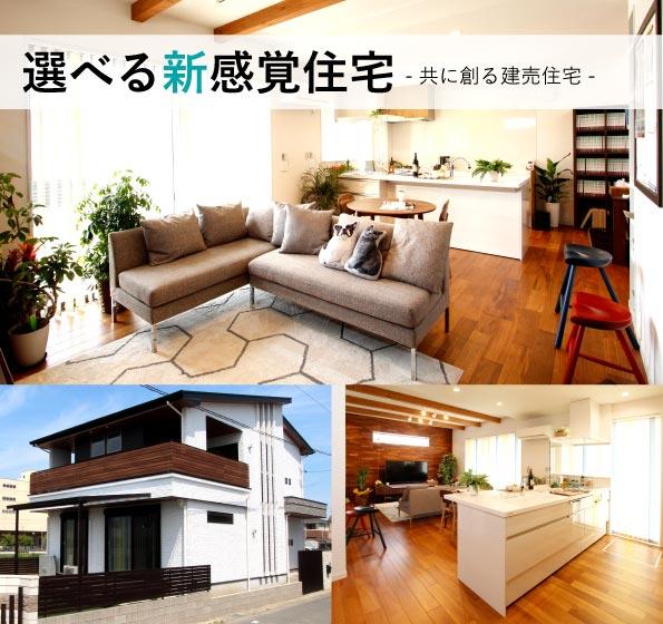 選べる新感覚住宅|共に創る建売住宅
